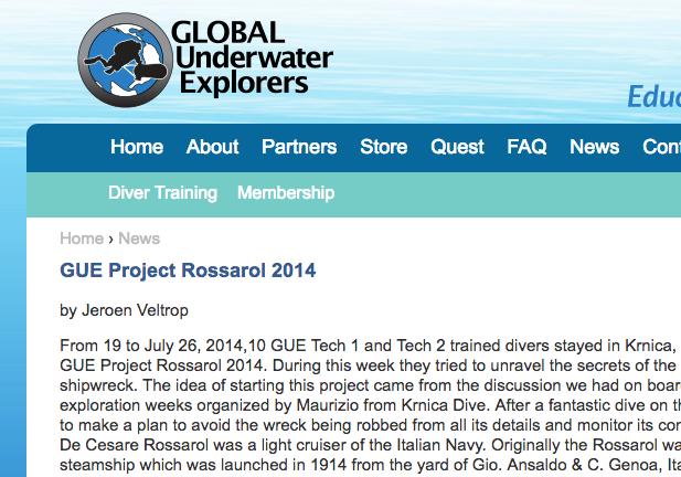 Global Underwater Explorers News