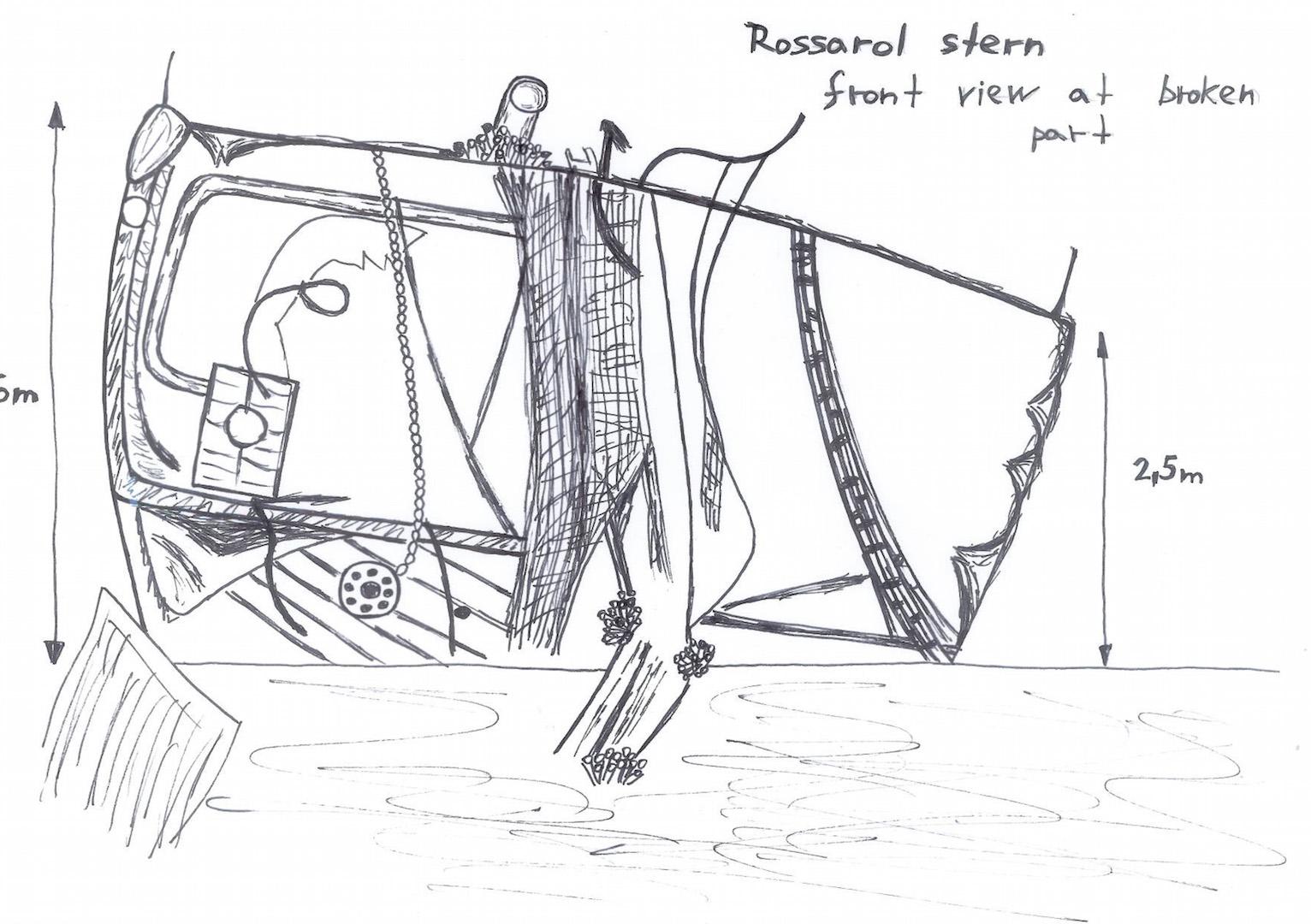 Rossarol broken stern part