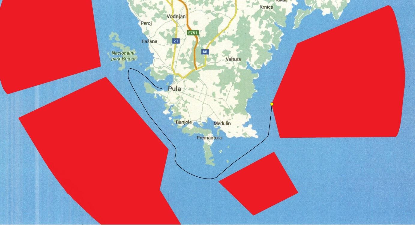 Catastrofic route of the Cesare Rossarol